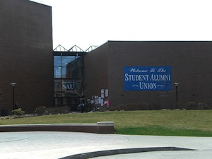 The front of the Student Alumni Union